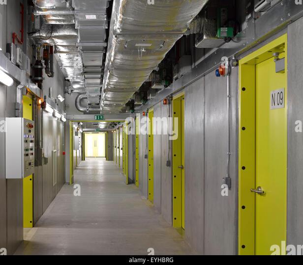 Interior view of film archive. Commerical stock portfolio (continued), na, United Kingdom. Architect: na, 2015. - Stock Image