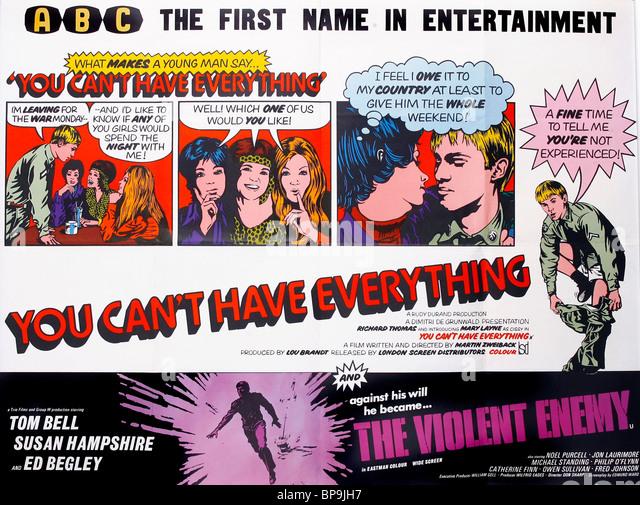 FILM POSTER THE VIOLENT ENEMY (1967) - Stock-Bilder
