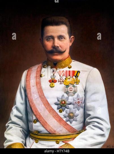 Archduke Franz Ferdinand of Austria (Franz Ferdinand Carl Ludwig Joseph Maria: 1863-1914). Franz Ferdinand's - Stock Image