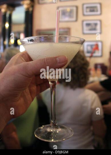 Tourists mingle in the 'La Floridita' bar, where US-author Ernest ...