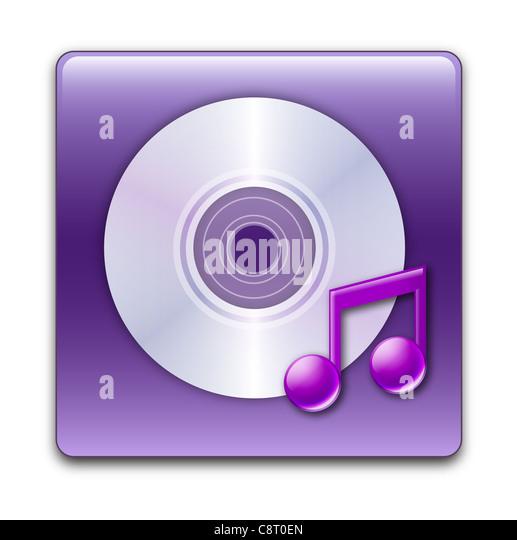 Illustration of music icon - Stock Image