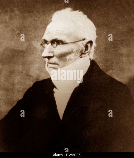 Rev. Patrick Bronte in 1860 - Stock Image