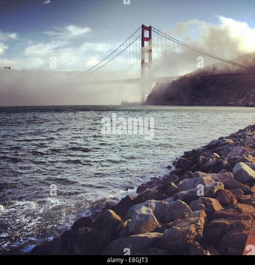 USA, California, San Francisco County, San Francisco, View of Golden Gate Bridge - Stock Image