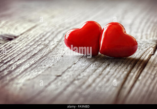 Two hearts in love - Stock Image