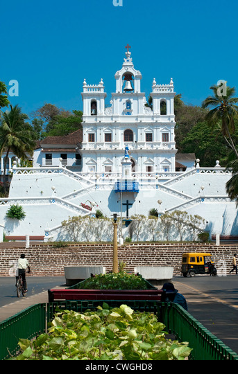 Church of Our Lady of the Immaculate Conception, Panjim, Goa, India - Stock-Bilder