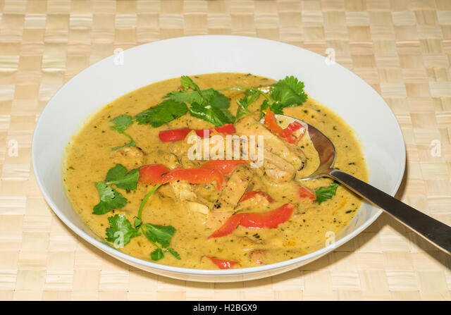 Chicken Penang curry - marinated chicken in a fragrant coconut and ...