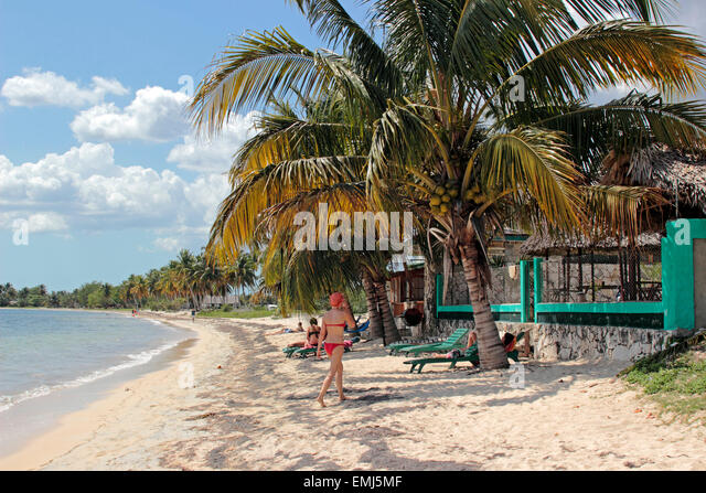 Beach on the 'Bay of Pigs' Zapata Peninsula Cuba - Stock Image