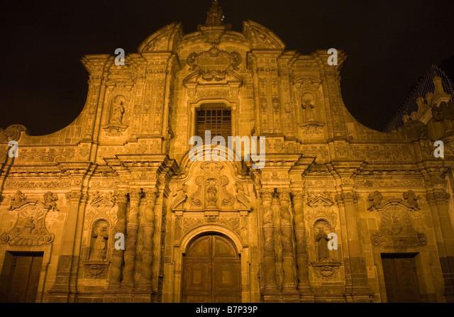 Ecuador Quito Company of Jesus church - Stock Image