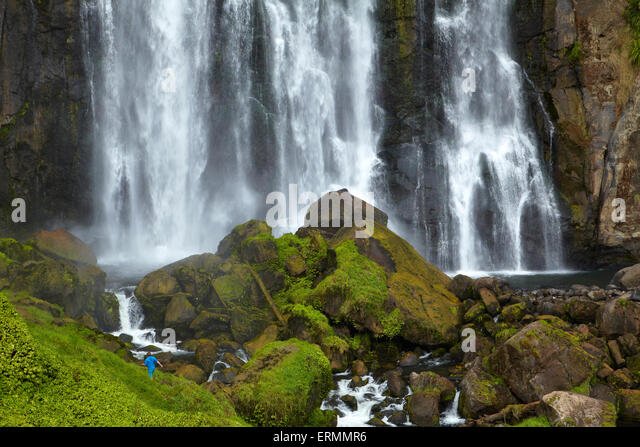 Marokopa Falls, Waitomo District, Waikato, North Island, New Zealand - Stock Image