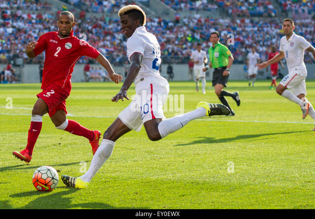 Baltimore, Maryland, USA. 18th July, 2015. #20 USA M Gyasi Zardes during the CONCACAF Gold Cup quarterfinal match - Stock-Bilder