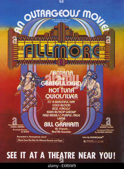 1970s USA 20th Century Fox Film Poster - Stock Image