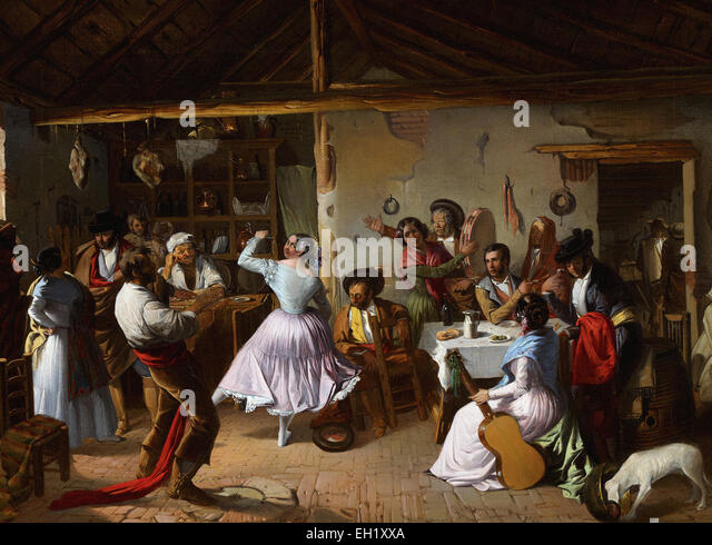 Rafael Benjumea  Dance at a Country Inn - Stock Image