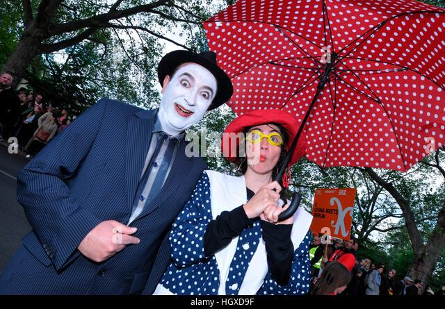 Clowns, Karneval der Kulturen, Kreuzberg, Berlin, Deutschland - Stock-Bilder