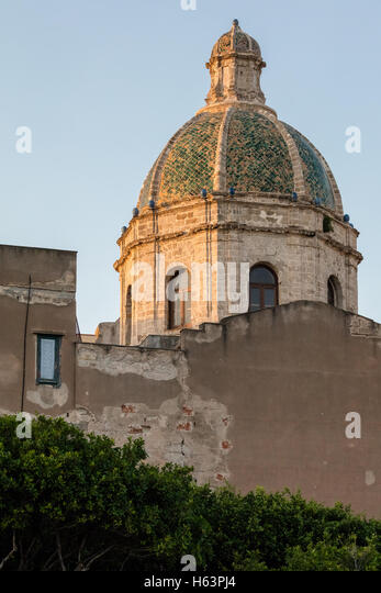 Trapani Cathedral, a.k.a. Basilica of Saint Lawrence the Martyr - Stock Image