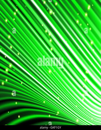 stars are falling on the background of green rays. - Stock-Bilder