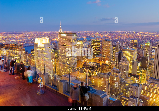 View of Midtown Manhattan from Top of the Rock 30 Rockefeller Center, New York City. - Stock Image