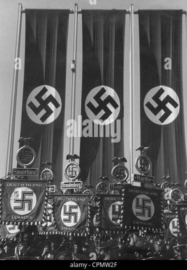 Swastika flags and banners - Stock-Bilder