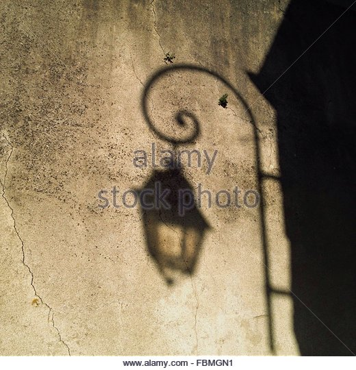 Shadow Of Lamp On Wall - Stock-Bilder