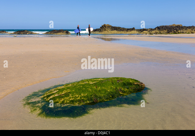 Great Western beach, Newquay, Cornwall, England - Stock Image
