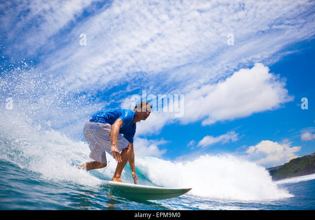 Indonesia, Bali, surfing man - Stock-Bilder