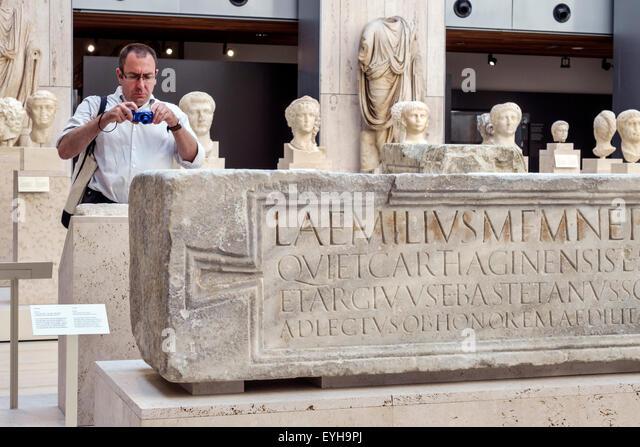 Madrid Spain Europe Spanish Recoletos Salamanca Calle de Serrano Museo Arqueologico Nacional National Archaeological - Stock Image