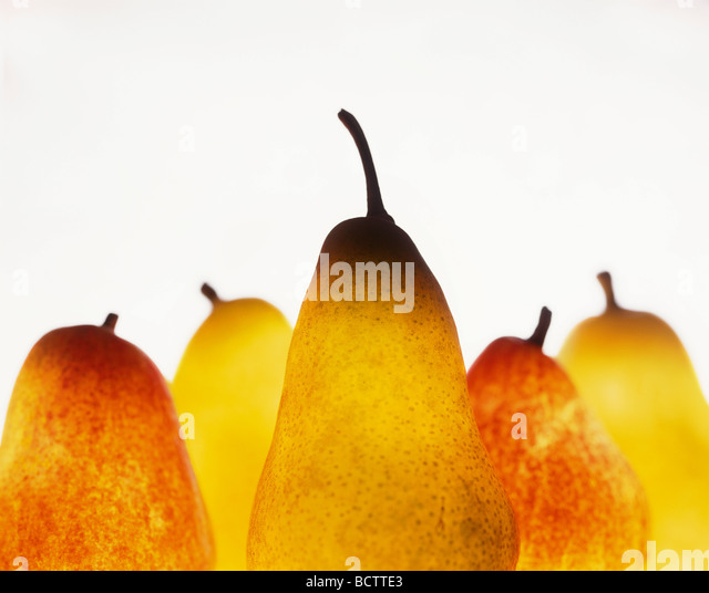 Close-up view of pears - Stock Image