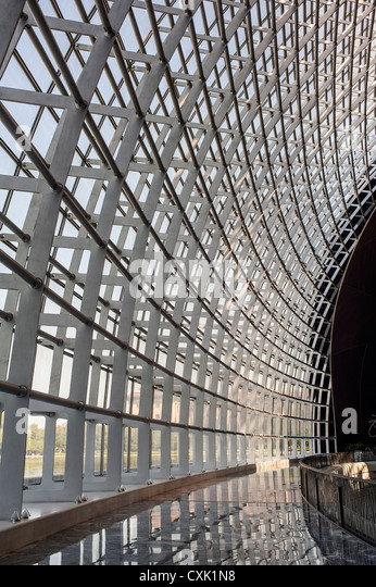 Metal frame of the building, China National Grand Theater - Stock Image