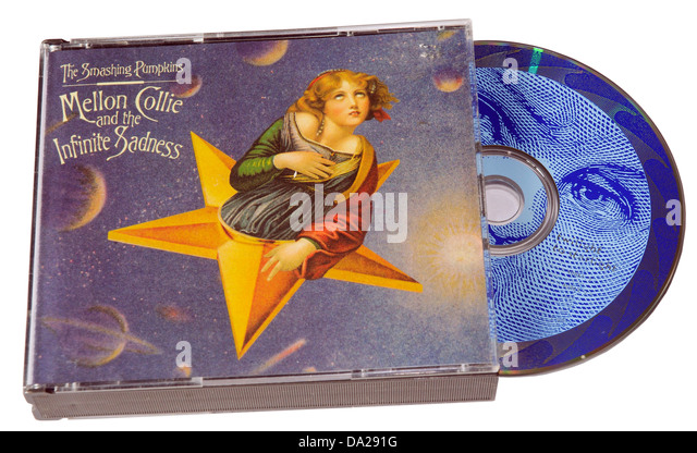 Smashing Pumpkins Mellon Collie and the Infinite Sadness album on CD - Stock Image