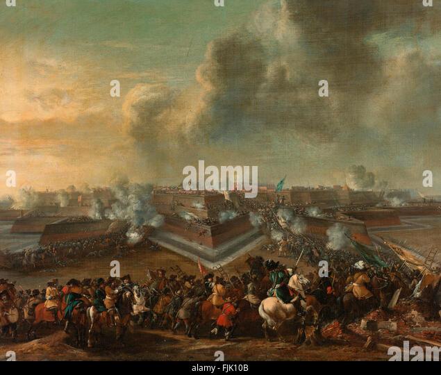 The storming of Coevorden, December 30, 1672 De bestorming van Coevorden, 30 december 1672 - Stock Image