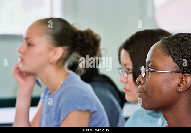 Higher education students - Stock Image