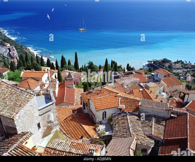 FR - COTE D'AZUR: Village of Roquebrune Cap Martin - Stock Image