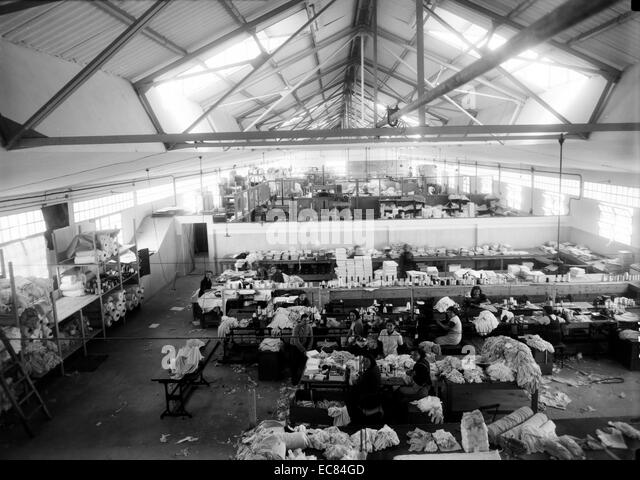 Photograph of the Lodzia Textile Co in Holon settlement in Israel. - Stock Image