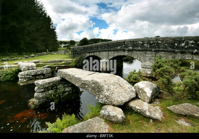 bridge on Dartmoor,England,UK - Stock-Bilder