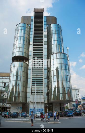 Modern building, Pristina, Kosovo, Europe - Stock-Bilder
