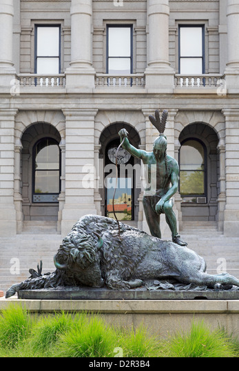 Closing Era statue, State Capitol Building, Denver, Colorado, United States of America, North America - Stock-Bilder