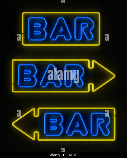 Neon bar sign - Stock Image