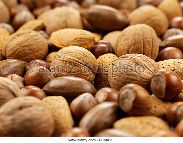 Assorted nuts (close-up) - Stock Image
