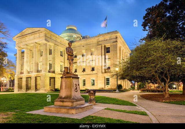 Raleigh, North Carolina, USA State Capitol. - Stock Image