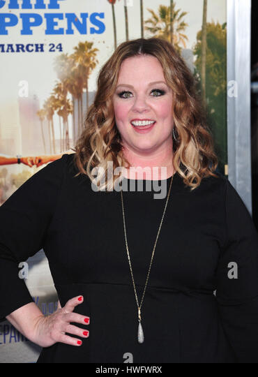 Los Angeles, USA. 20th Mar, 2017. LOS ANGELES, CA. March 20, 2017: Melissa McCarthy at the premiere for 'CHiPS' - Stock Image