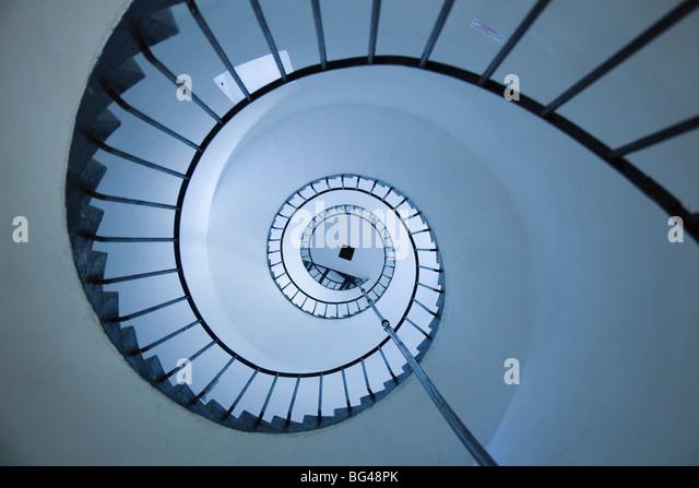 Uruguay, La Paloma, Atlantic Ocean resort town, Cabo Santa Maria Lighthouse, interior stairs - Stock Image