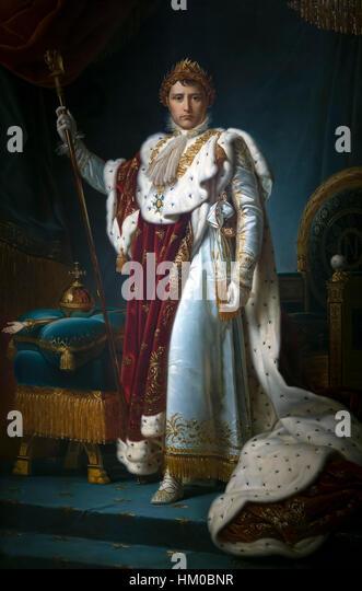 Portrait of Emperor Napoleon I, by studio of Francois Pascal Simon, 1805-15, oil on canvas,  Rijksmuseum, Amsterdam, - Stock Image