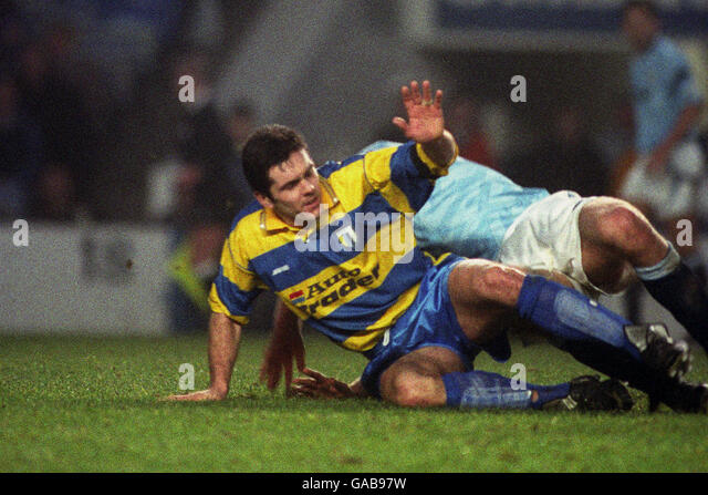 Soccer - FA Cup - 3rd Round - Manchester City v Reading - Maine Road - Stock Image