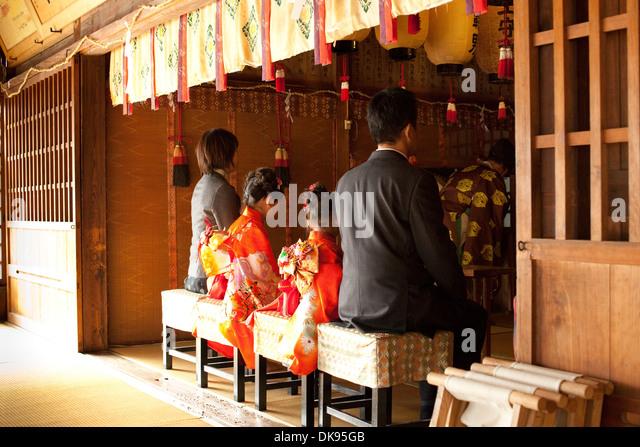 Shichi-go-san Japanese ceremony - Stock-Bilder