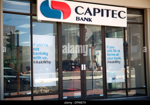 Capitec Bank in Cape Town - South Africa - Stock Image