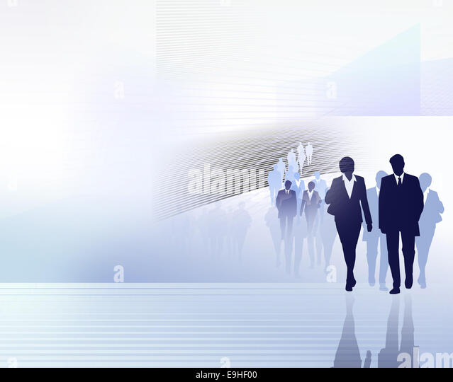people business illustration - Stock Image