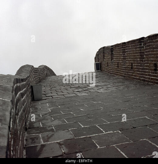 China, Great Wall, Detail - Stock Image