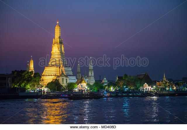 Wat Arun, the temple of dawn, Bangkok, Thailand - Stock Image