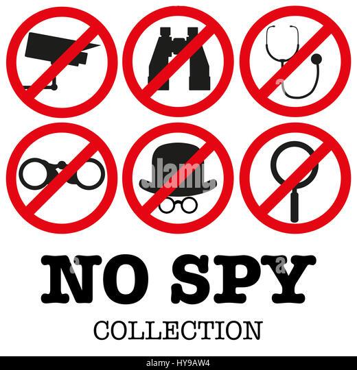 Anti-spyware icon  illustration - Stock Image