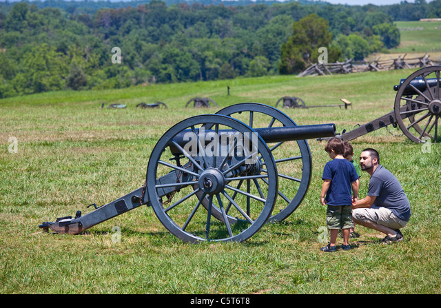 Manassas Junction or Bull Run Battleground Civil War site, Virignia, USA - Stock Image