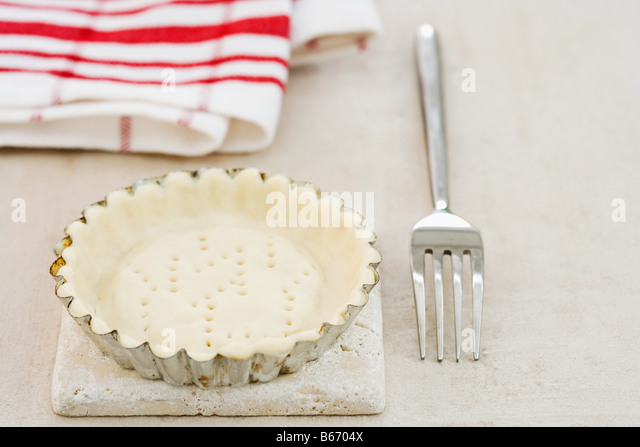Pastry in a flan tin - Stock Image